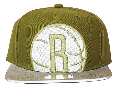 premium selection 91035 d99d2 Mitchell   Ness Men s NBA Brooklyn Nets Olive Reflective Camo Snapback Hat