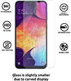 JGDWORLD (Pack of 2) 2.5D Clear HD Tempered Glass Screen Protector For Samsung Galaxy A30/A50/M30 (2019) Full Screen Coverage (Except Edges) With Easy Installation Kit