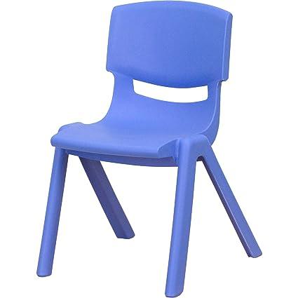 Amazon.com: Plastic Stackable School Chairs, Set of 4, 12 ...