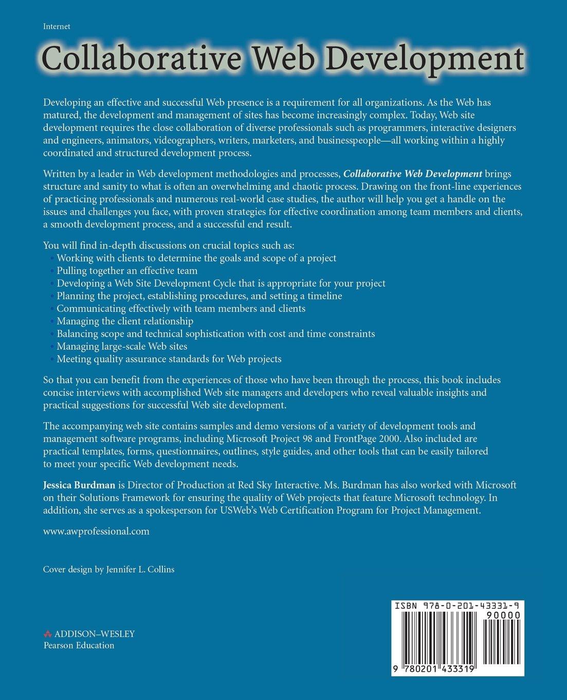 Collaborative web development strategies and best practices for collaborative web development strategies and best practices for web teams jessica burdman 0785342433319 books amazon xflitez Images