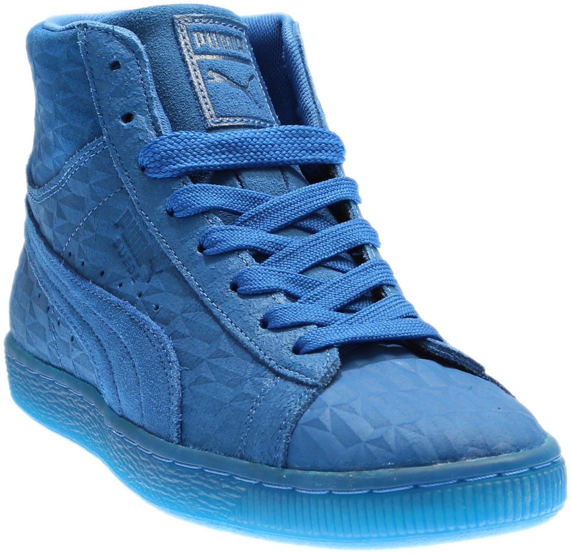 PUMA Men's Suede Mid Me Iced Royal/White Athletic Shoe