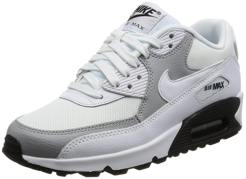 NIKE Women's Air Max 90 Running Shoe B009SJPKMW 5.5 B(M) US|White / White-wolf Grey-black