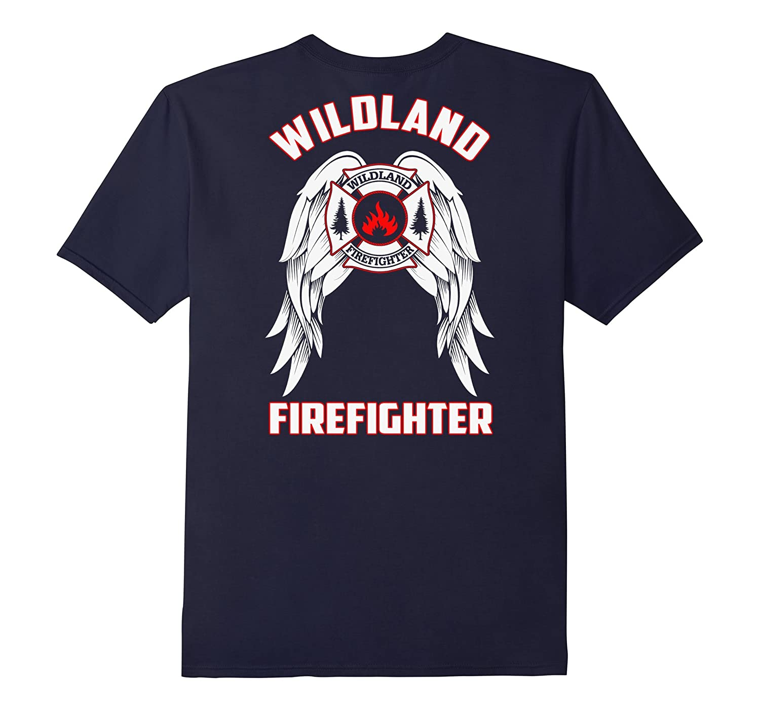Wildland Firefighter TShirt with Wings - Back Print-T-Shirt