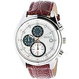 James Tyler Montres - JT701-1 - Montre Homme - Quartz Chronographe - Bracelet Cuir Marron