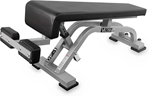 Valor Fitness DF-1 Adjustable Decline Flat Bench for Weightlifting and Ab Crunches