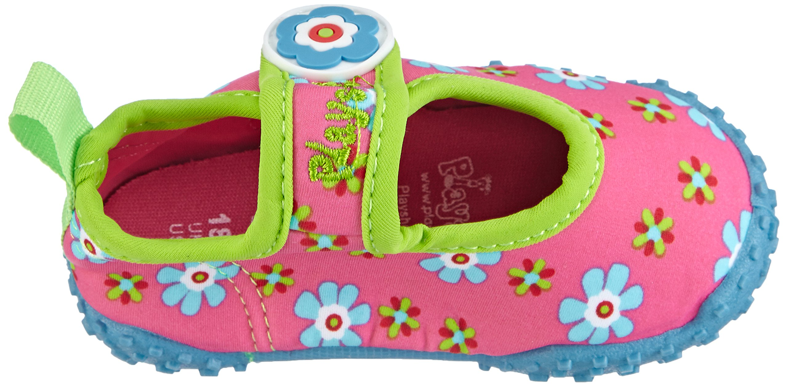 Playshoes Girl's UV Protection Flower Collection Aqua Swimming/Beach Shoes (4.5 M US Toddler) by Playshoes (Image #8)