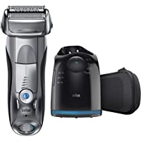 Braun Series 7 790cc Men's Pulsonic Rechargeable Electric Shaver with Clean & Charge Station (Silver)