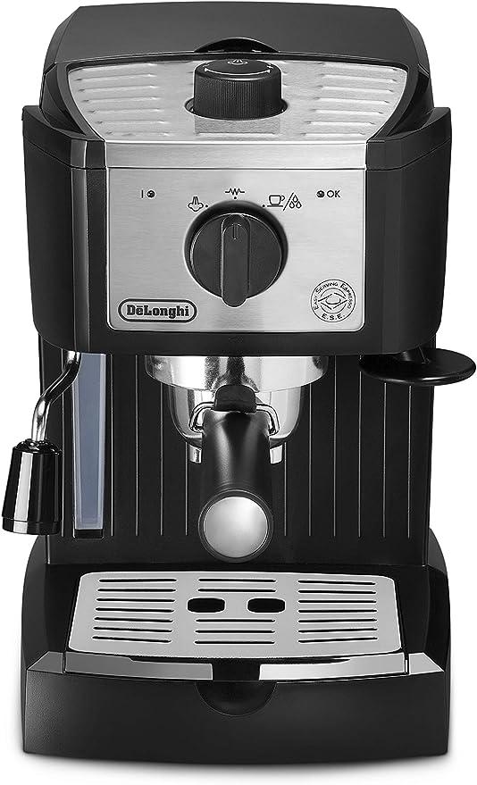 DeLonghi EC157 Independiente Máquina espresso Negro, Acero ...
