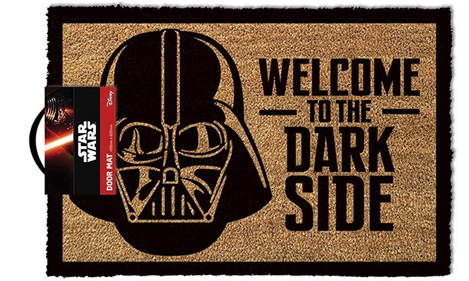 empireposter Star Wars Welcome to The Darkside – Felpudo, tamaño: 60 x 40 cm, Material Fibra de Coco