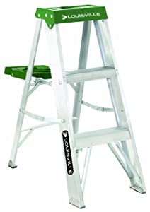 Louisville Ladder 3-Foot Aluminum Step Ladder, 225-Pound Capacity, AS4003