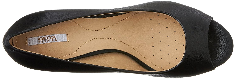 Geox Damen D Lana A Block-Absatz Stil Pumps im zeitlosen, Modernen Stil Block-Absatz mit patentierter Evergreen-Sohle Gummi Schwarz (schwarzc9999) 32ab35