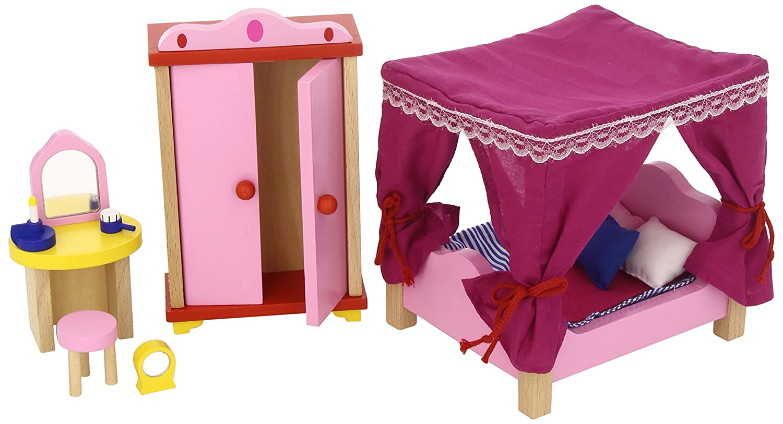 Goki Puppenmöbel Schloss Schlafzimmer