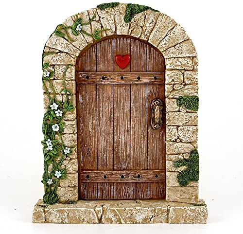 Top Collection 7 Miniature Fairy Garden Terrarium Charming Cobblestone Door Decor, Small