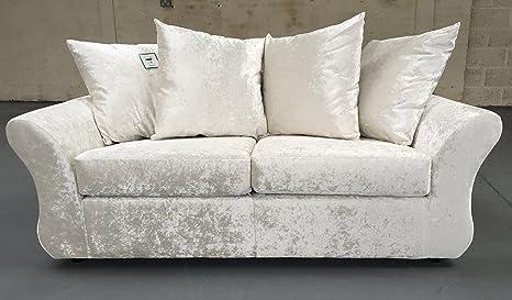 Luxe Sofas Producto Marfil - Crema - Tela de Terciopelo ...
