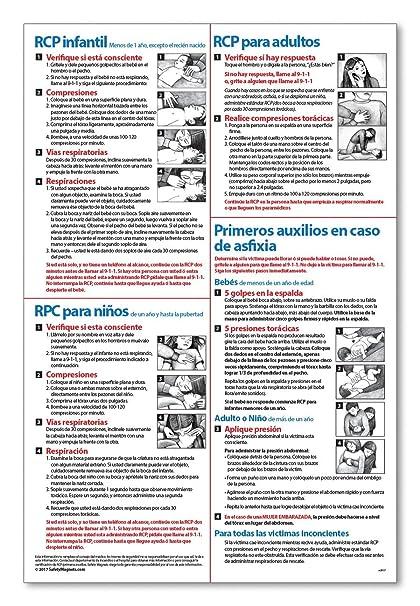 Amazon Spanish Espanol Cpr Choking First Aid Instructions