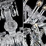 YYSHCHEN Crystal Glass Chandelier 6 Lights Clear