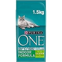 Purina ONE Indoor Kattenvoer, Adult Kattenbrokken - Binnenkatten, met Kalkoen en Volkoren Granen, 1,5kg - Doos van 3 (4…