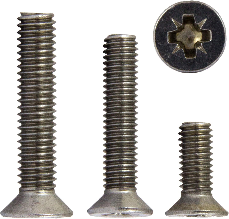 opiol Quality Tornillo | Tornillo avellanado 50/unidades cabeza avellanada Tornillos de cruz senkkopfsc Tornillos alomados conZ DIN 965/Acero Inoxidable A2/
