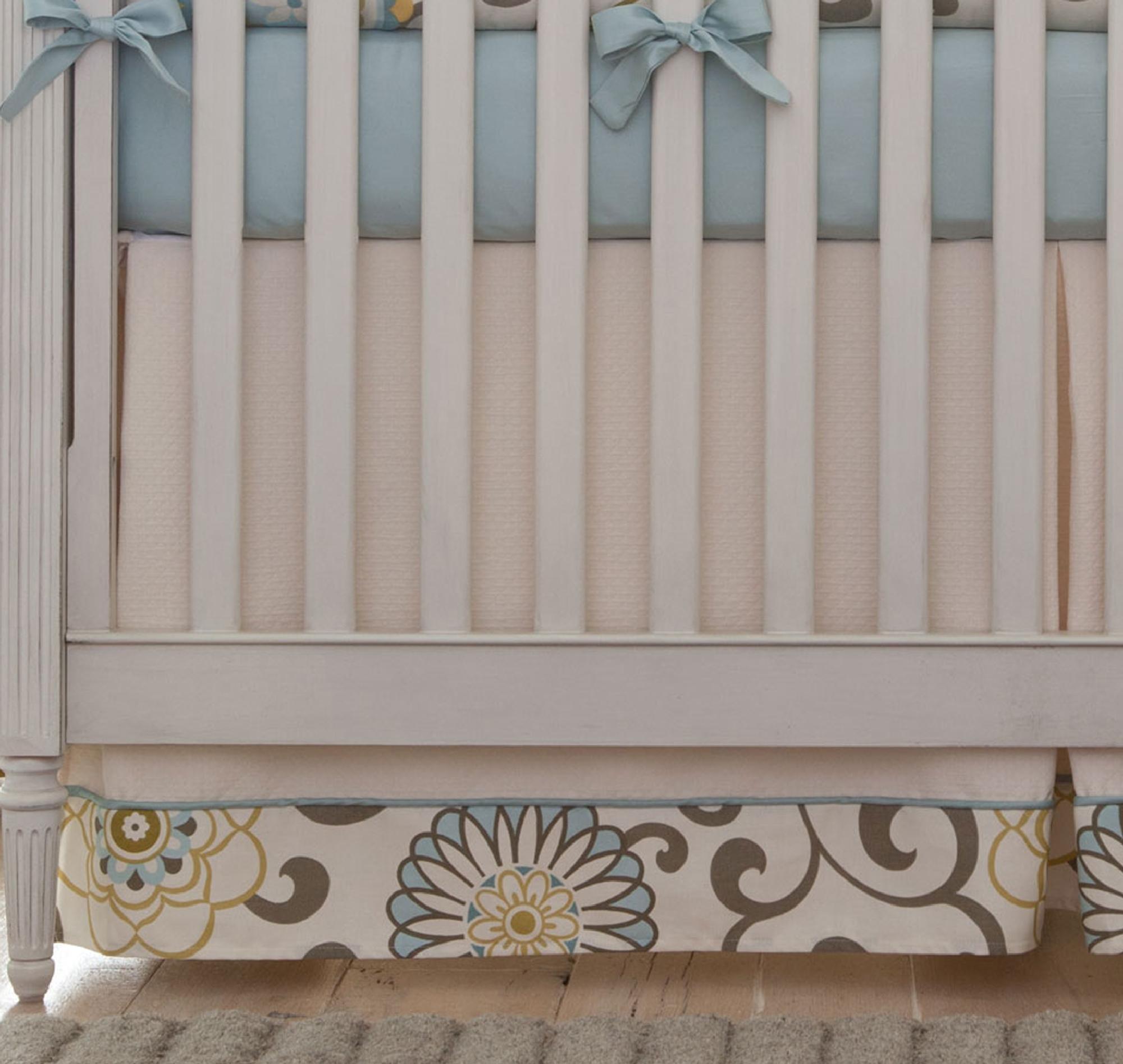 Carousel Designs Spa Pom Pon Play 2-Piece Crib Bedding Set