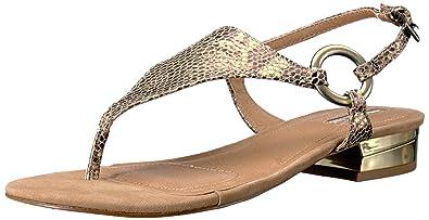 4e3ab7f31190f Tahari Women s TA-LACIE Flat Sandal Tan 5 Medium US