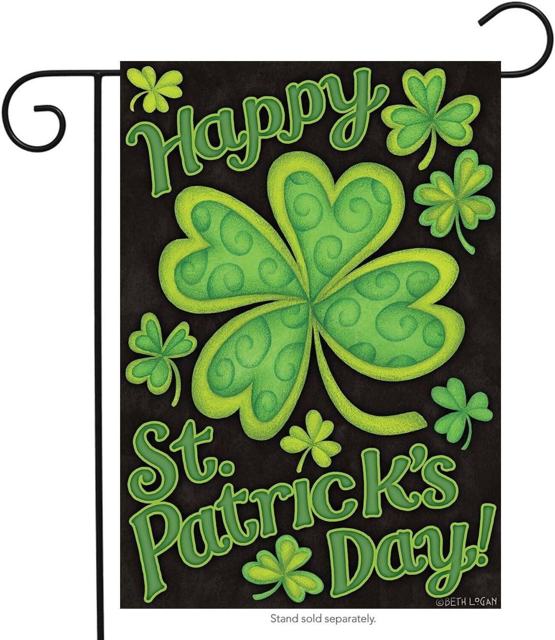 "Briarwood Lane Happy St. Patrick's Day Garden Flag Holiday 12.5"" x 18"""