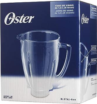 Oster BLSTAJ-G00-050 Jarra de vidrio redonda, 6 tazas, 1.5 l ...