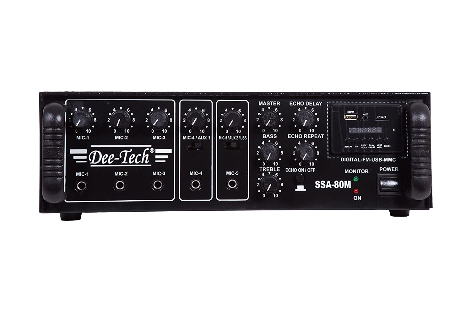 Dee Tech Ssa 80 M Professional Watt Pa Amplifier With Usb Power Circuit Musical Instruments