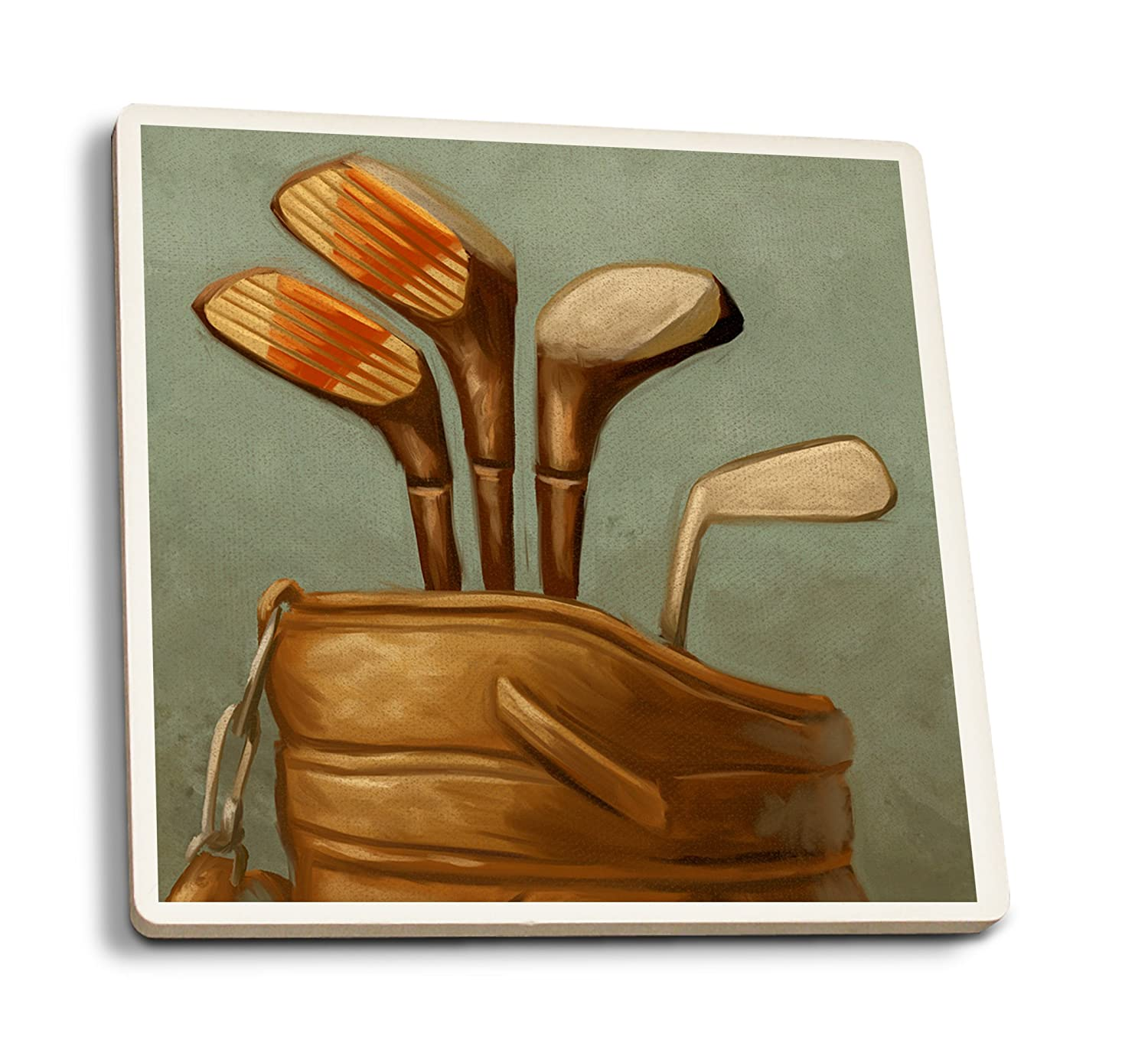 Palos de golf - Pintura al óleo, 8oz Coffee Bag: Amazon.es ...