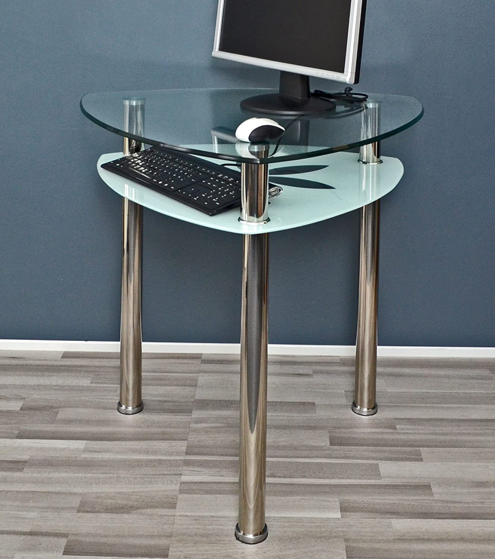 Amazon.de: Glastisch Esstisch Dreieck Tisch Ecktisch Computertisch ...