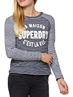Superdry Longsleeve Women AMOUR STRIPE GRAPHIC TOP Florence Navy Stripe