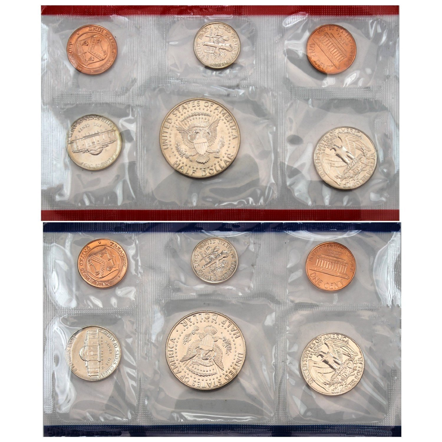 1995 Various Mint Marks P /& D United States US Mint 10 Coin Uncirculated Mint Set Uncirculated