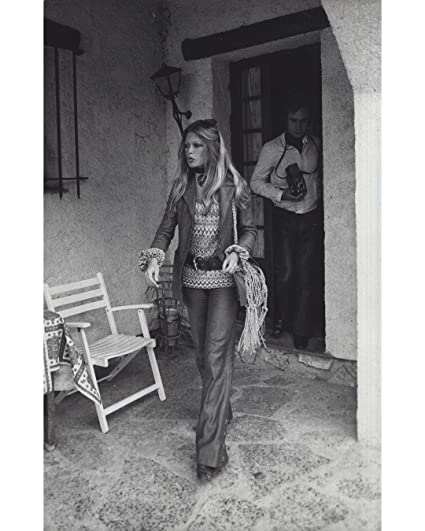 Amazoncom Globe Photos Artprints Brigitte Bardot Wearing A Leather