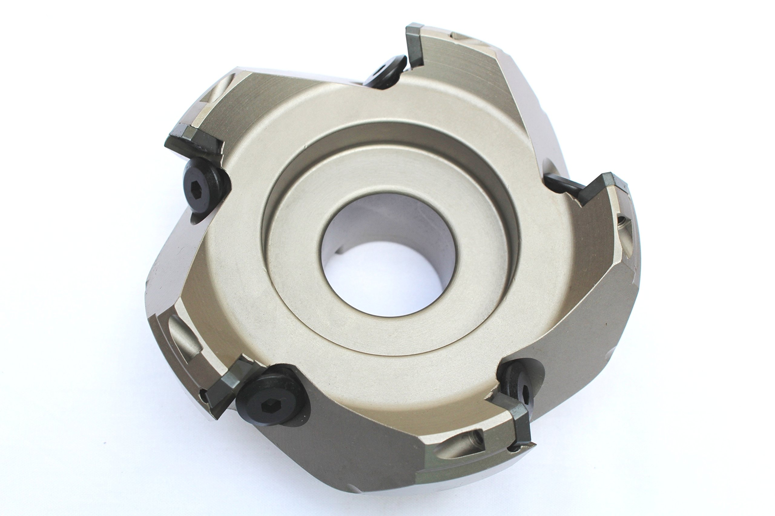 HHIP 2067-4000 4'' x 1-1/4'' Bore 45 Degree SE42 Index able Face Mill, 5 Teeth, 1.97'' OAL