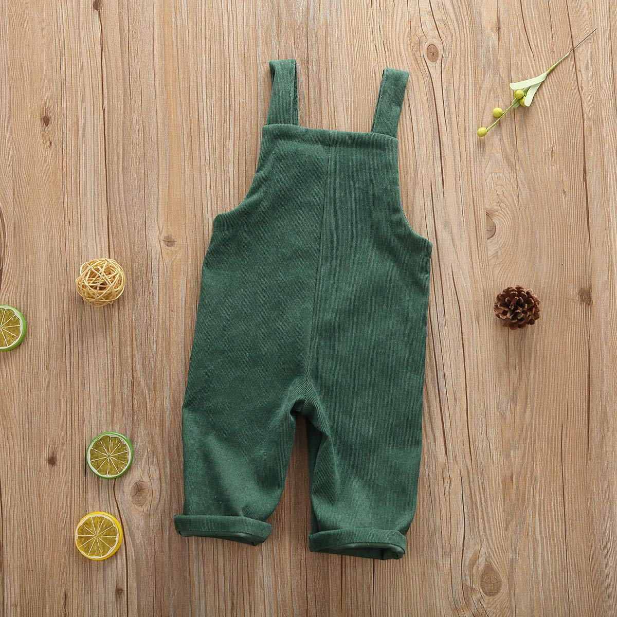 Karuedoo Baby Girls Velvet Suspender Overalls Pant Infant Toddler Casual Strap Loose Jumpsuit Romper Fall Outfit Clothes