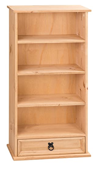 Mercers Furniture Corona 1 Drawer Bookcase And DVD Storage Rack   Pine