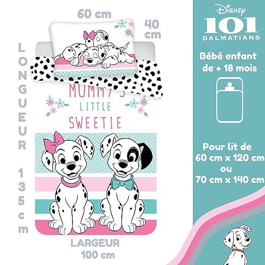 101 Dalmatiner Kinderbettw/äsche Disney III 2-teilig 100/% Baumwolle 40x60 100x135 cm mit Rei/ßverschluss