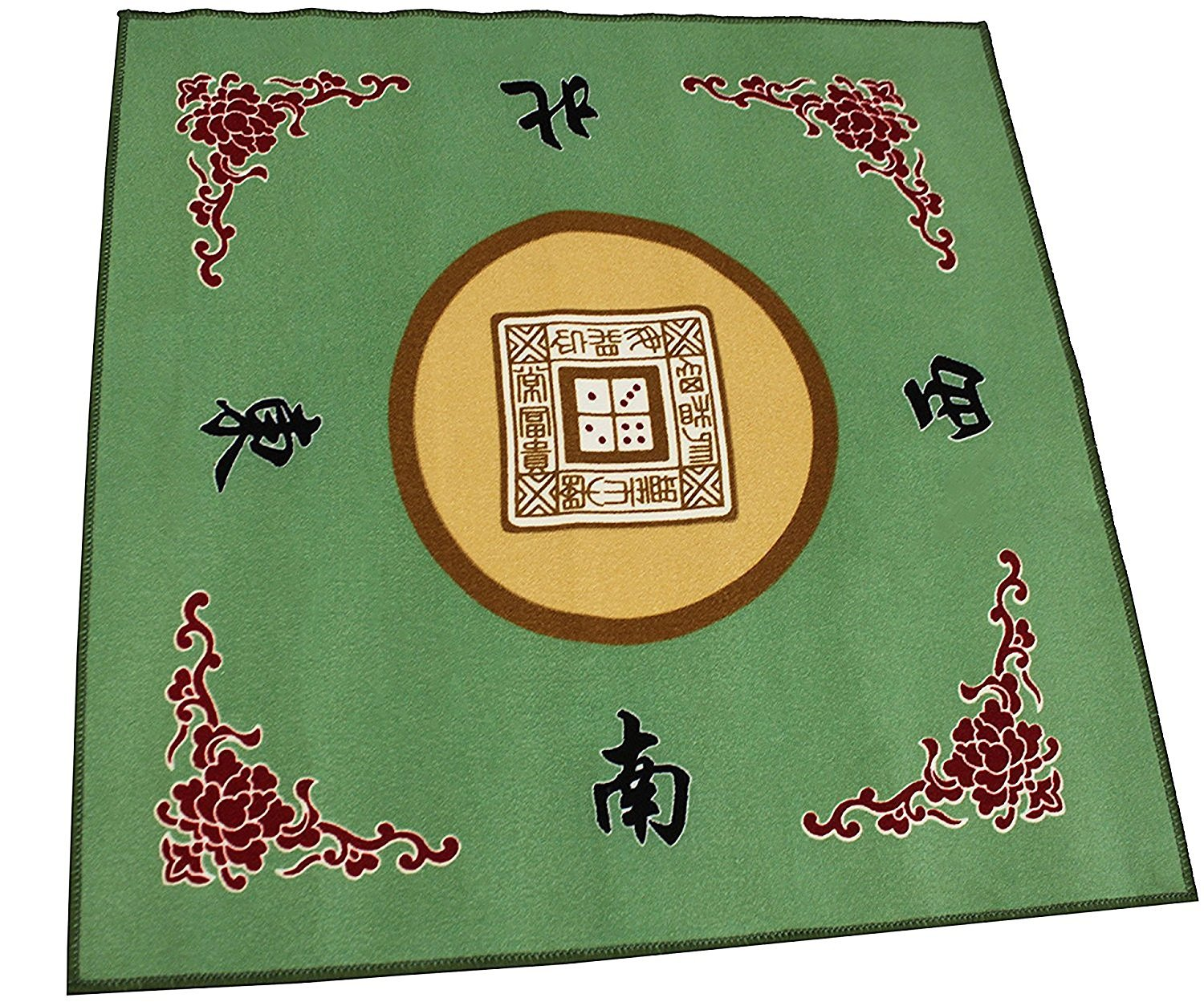 31.5'' Gaming Tabletop Cover - Slip Resistant Mahjong Game / Poker / Dominos Card Tablecover Table Top Mat (Green or Blue at random color)