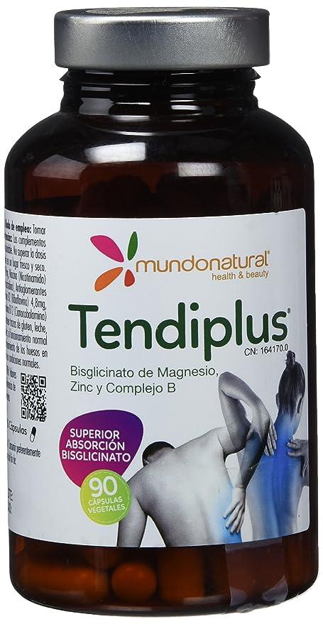 Mondonatural, Tendiplus Bisglicinato de Magnesio, Zinc y Complejo B, 90 Capsulas