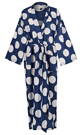 7097bbe969 Image Unavailable. Image not available for. Colour  Ladies Lightweight Cotton  Dressing Gown - Kimono ...