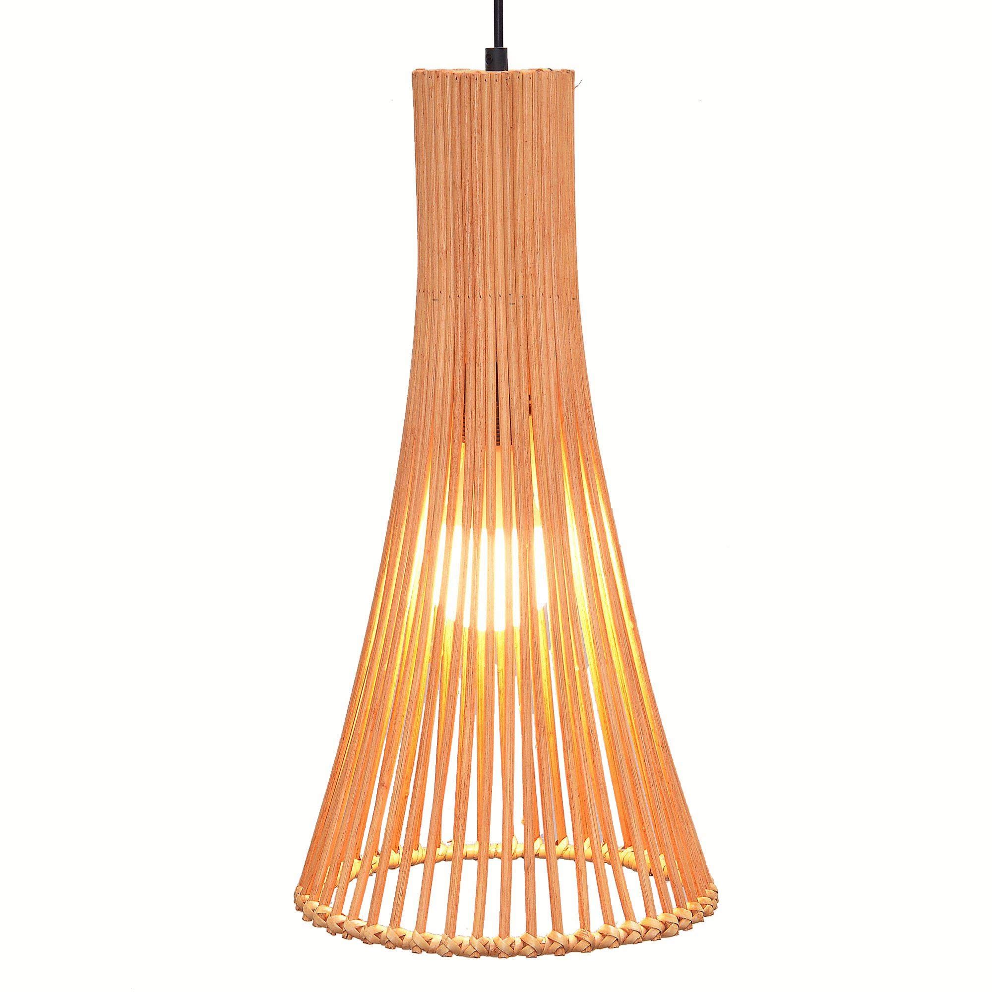 South Asian Bamboo Vse Dining Room Ceiling Pendant Lamp Janpanese Restaurant Pendant Lights Country Rustic Horn Hanging Lamps