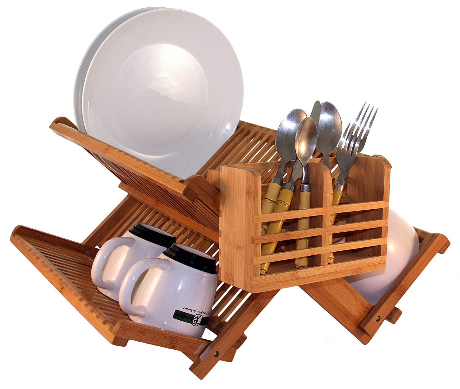 Amazon.com: Totally Bamboo Premium Collapsible Dish Drying Rack ...