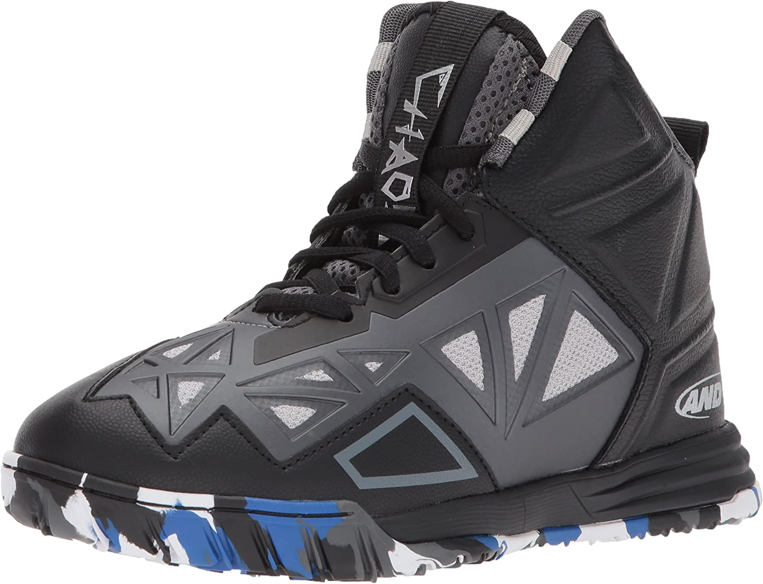 And1 And 1 Tempest Boys AU Skate Basketball Shoes Size 5.5 Black Gray New NWOB
