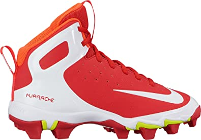 Nike Kids\u0027 Alpha Huarache Keystone Mid Baseball Cleats(Red/White, 1 Little