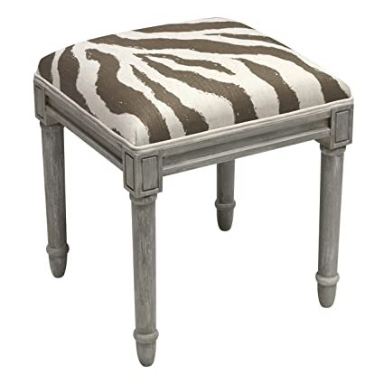Astonishing Amazon Com 123 Creations Grey Wood And Linen Zebra Stripes Theyellowbook Wood Chair Design Ideas Theyellowbookinfo