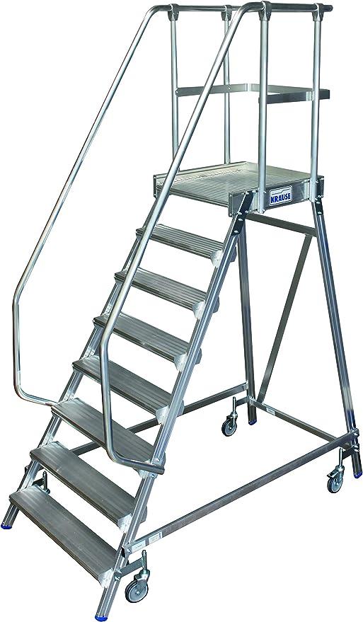 KRAUSE STABILO STABILO® Escalera de mano móvil, acceso por un solo lado, 8 peldaños: Amazon.es: Bricolaje y herramientas