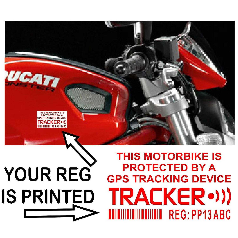 X Motorbike DummyFake GPS Personalised Tracker Device Unit - Car window stickers amazon uk