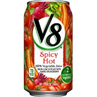 24-Pack V8 Spicy Hot 100% Vegetable Juice 11.5 oz. Cans