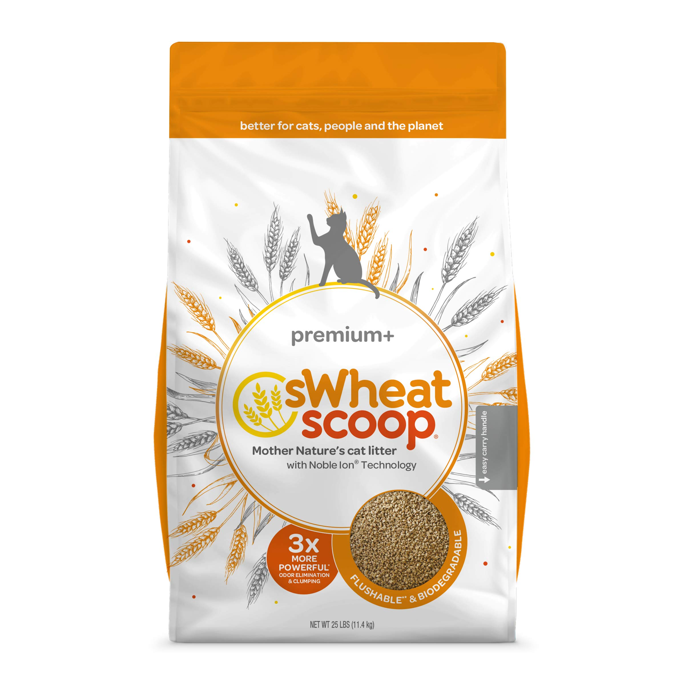 sWheat Scoop Premium Cat Litter, 25 lb by sWheat Scoop
