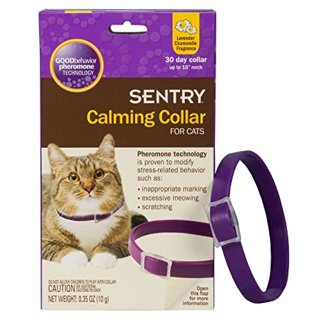 Sentry Collier Apaisant Pour Chats Amazon Fr Animalerie