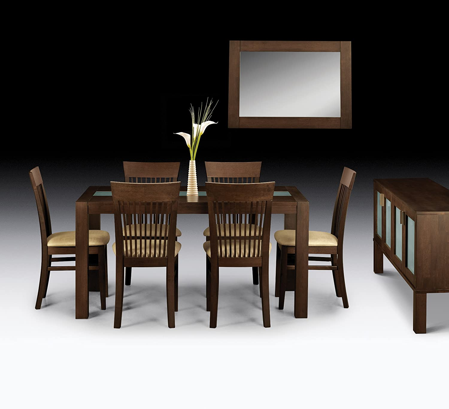 Julian Bowen Santiago Dining Table Dark Wood Amazon